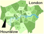 Click for borough map of London